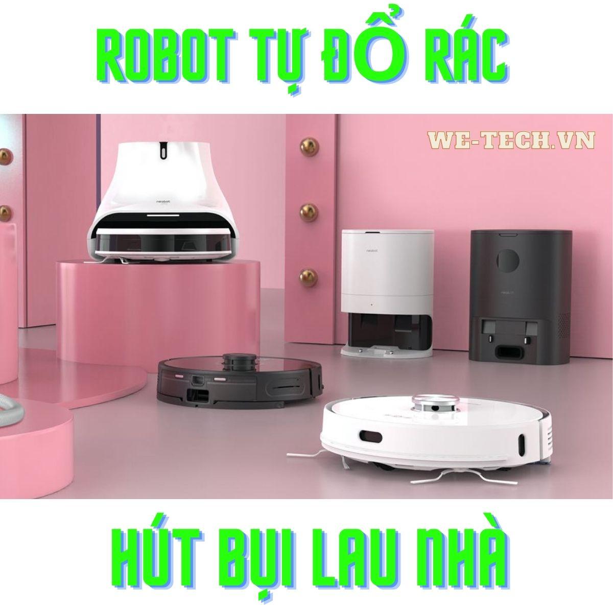 robot tự đổ rác